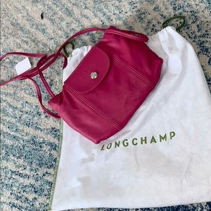 Brand new pink longchamp satchel